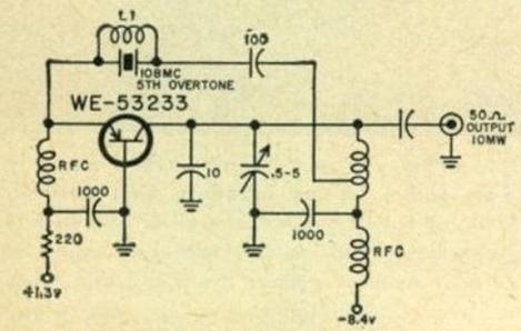 Vanguard-1 radio beacon circuit diagram